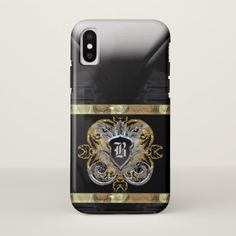 Knight Time Romantic 10 Monogram iPhone X Case - patterns pattern special unique design gift idea diy
