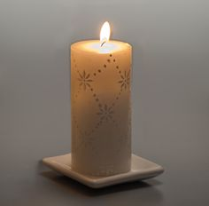 Glorious white pillar candles show off a delicate lace design as they burn. Special touch to any wedding. White Candles, Pillar Candles, African Artists, Paraffin Wax, Summer Weddings, Lace Design, White Paints, Artist At Work, Fair Trade
