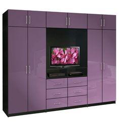 Wall Closet Units | Aventa TV Wardrobe Wall Unit X-Tall - Bedroom TV Furniture Plus ...