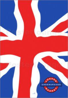 London Underground Poster von ARTSHOT