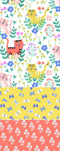 wendy kendall designs – freelance surface pattern designer  » little garden