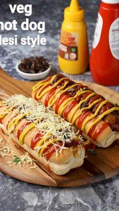 Hot Dog Recipes, Veg Recipes, Spicy Recipes, Cooking Recipes, Sandwich Recipes, Cucumber Recipes, Paneer Recipes, Snacks Recipes, Indian Dessert Recipes