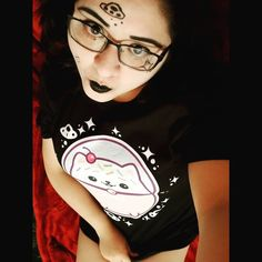 cute kawaii grunge girl wearing kitipai space cat tee Grunge Girl, Space Cat, Creepy Cute, Girls Wear, Grunge Fashion, Fashion Photo, Kawaii, T Shirts For Women, Crop Tops