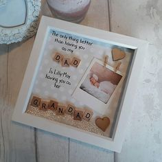 Birthday Gift Daddy, Personalised Frame Dad,Present For Grandad, Grandpa Gift ,Personalised Frame For Grandparent, Scrabble Art Frame