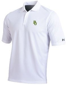 Simple. #SicEm. // #Baylor Bears Mens White Performance Polo Shirt by Under Armour $57.95