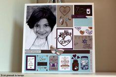 Page All You Need is Love Capsule février Florilèges Design - Votre boutique scrapbooking - Kerglaz.com