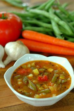 Healthy Garden Vegetable Soup -- This lovely kid-friendly soup  is the perfect lunch. -- The Nourishing Gourmet