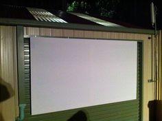 Projector outside!!!