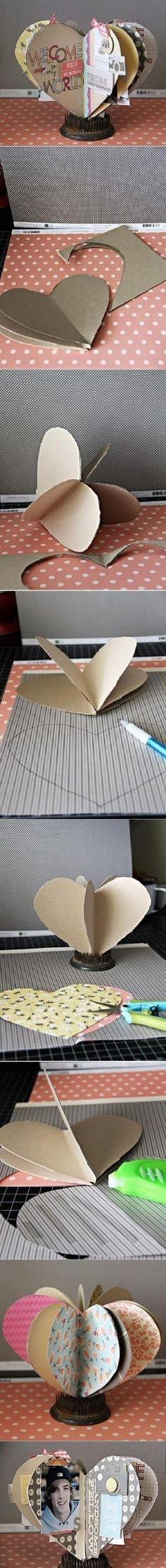DIY simple en forma de corazón Marco de bricolaje simple en forma de corazón Marco fotográfico por lupita m