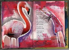 #journal pages by Erin Partridge... ..... #flamingo
