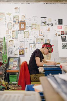 Adelaide artist Georgina Chadderton at Tooth and Nail Studios. As seen in the Adelaide* magazine's Youth Issue, June 2013. #Adelaide #Artist #creative #Art #ArtStudio