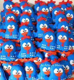galinhas pintadinhas de feltro