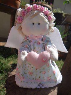 Anjinha em tecido floral !!!