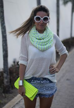 White, metal & fluo   Chicisimo Spain fashion