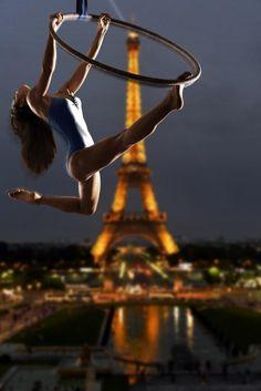 Acrobatics over Paris