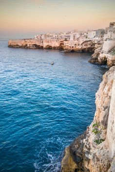 Polignano a Mare, Apulia - While the seaside towns on the Amalfi Coast draw more attention, this small village set into the limestone cliffs on the Adriatic Sea is also worth a visit. For a unique dining experience, book a table at the Grotta Palazzese, a seaside restaurant located in a cavern carved out of one of the cliffs.