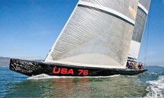 America's Cup Yacht 'USA76' in San Francisco