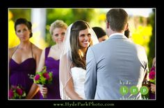 A fantastic smile from the bride during a special moment during the ceremony at Barr Mansion by Hyde Park Photography Austin Wedding Photography www.HydeParkPhoto.com