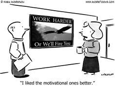 Motivational Poster Cartoon.