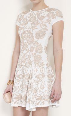 Floral cream sress