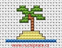 Palm, free cross stitch patterns and charts - www.free-cross-stitch.rucniprace.cz