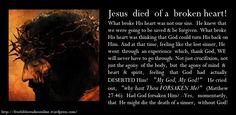 images of a broken heart | Jesus Died Of A Broken Heart