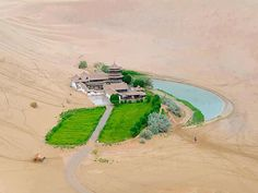 Beautiful Crescent Lake in Gobi desert , China