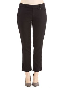 Stop, Crop, and Roll Pants - Black, Solid, Pockets, Casual, Military, Cotton, Better, Ankle, Black, Non-Denim, Woven, Work, Cropped, Spring, Summer, Fall, Mid-Rise