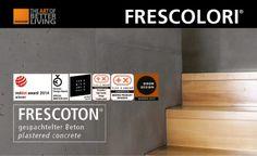 Neu im Sortiment: Frescoton - Wandgestaltung der Firma www.frescolori.de Plaster, Concrete, Fireplaces, Paint, Wall Design, Plastering, Gypsum