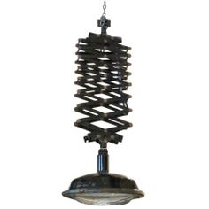 1940's Belgian extendable industrial light from factory / wire mesh covered lamp light www.balsamoantiques.com