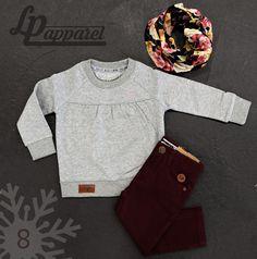 Scarf: Infinity - Unique / Sweatshirt: Heart / Pants: Skinny - Burgundy * L&P exclusive *