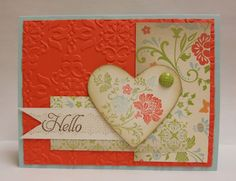 Heart Card using Stampin' Up! 2012 Sale-A-Bration products :)