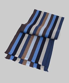 Multi Stripe Merino Scarf