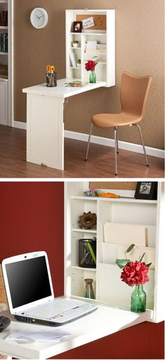 Wall Mounted Space-Saving Fold-Out Writing Desk ♥