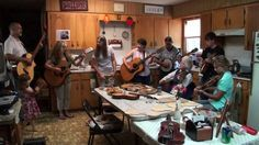 Violet Hensley jamming with her family and friends