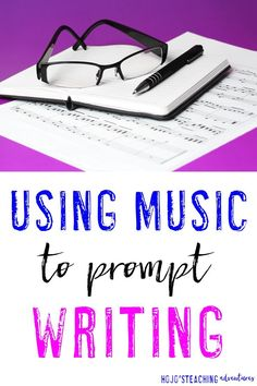 If you're on the lookout for writing prompts for kids, then you're going to LOVE this activity! Use music to help motivate your students to write. It's great for ANY grade level. I've done it with Kindergarten and 6th grade students, but I was taught the