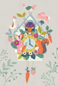 Cuckoo Clock...giclee Print Of An Original Illustration