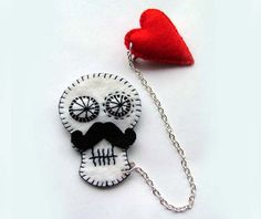 Valentines Day Sugar Skull Jewelry  Accessories by TheDollCityRocker on Etsy