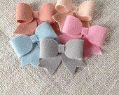 Winter Wonderland soft pastel long tail winter bows!