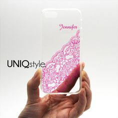 Personalized #lace pattern transparent clear case for by Uniqstyle, $12.95