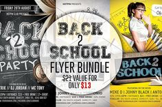 Back To School Party Flyer Template By Hotpin On Creative Market