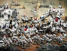 VK is the largest European social network with more than 100 million active users. Warhammer 40k Factions, Warhammer 30k, Tau Empire, Au Ideas, Apocalypse, Diorama, Red And White, Miniatures, Christmas Tree