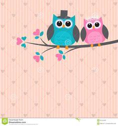 Two Cute Owls Love Raster Version Stock Illustration 104844704 Sheep Vector, Owl Vector, Vector Free, Cute Sheep, Cute Owl, Owl Cartoon, Cute Cartoon, Doodle Wedding, Garden Owl