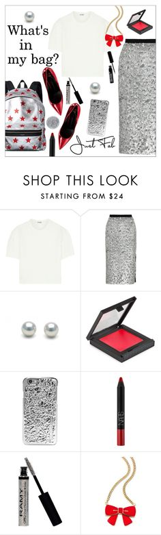 """""""Backpack"""" by danielle-487 ❤ liked on Polyvore featuring mode, Miu Miu, Burberry, MAKE UP STORE, Marc by Marc Jacobs, NARS Cosmetics, Estée Lauder en Smith & Cult"""