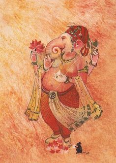 And another beautiful favorite of Ganesha
