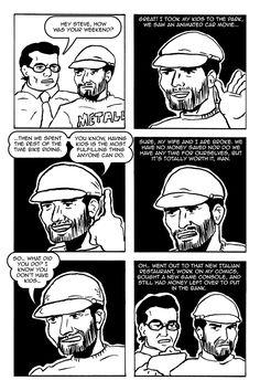 """Weekend Fun"" from ""The Schlub"" by Illya King #webcomics #comics #indiecomics #schlublove"