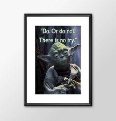 Star Wars Art - Yoda - Do Or Do Not -  Print - BUY 2 Get 1 FREE by ShamanAlternative on Etsy