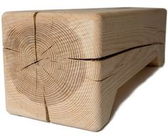 basement coffee table - natural