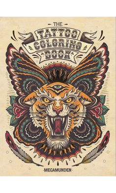 Coloring Tattoo Book The Coloring Book Project Edition Mike Devries Self Therapy, The Tattoo Coloring Book, Tattoo Designs Adult Colouring Book Colour Me Awesome, Tattoo Coloring Book, Coloring Books, Desenhos Old School, Bauch Tattoos, Tatuagem New School, Kunst Tattoos, Retro Tattoos, Filipino Tattoos, Marquesan Tattoos