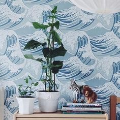 Behang Cole and Son Great Wave 89-2007 Frontier Behangpapier Collectie Luxury By Nature sfeer